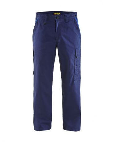 Blaklader 1404 Industry Trousers 65% Polyester, 35% Cotton Twill (Navy Blue/Cornflower Blue)